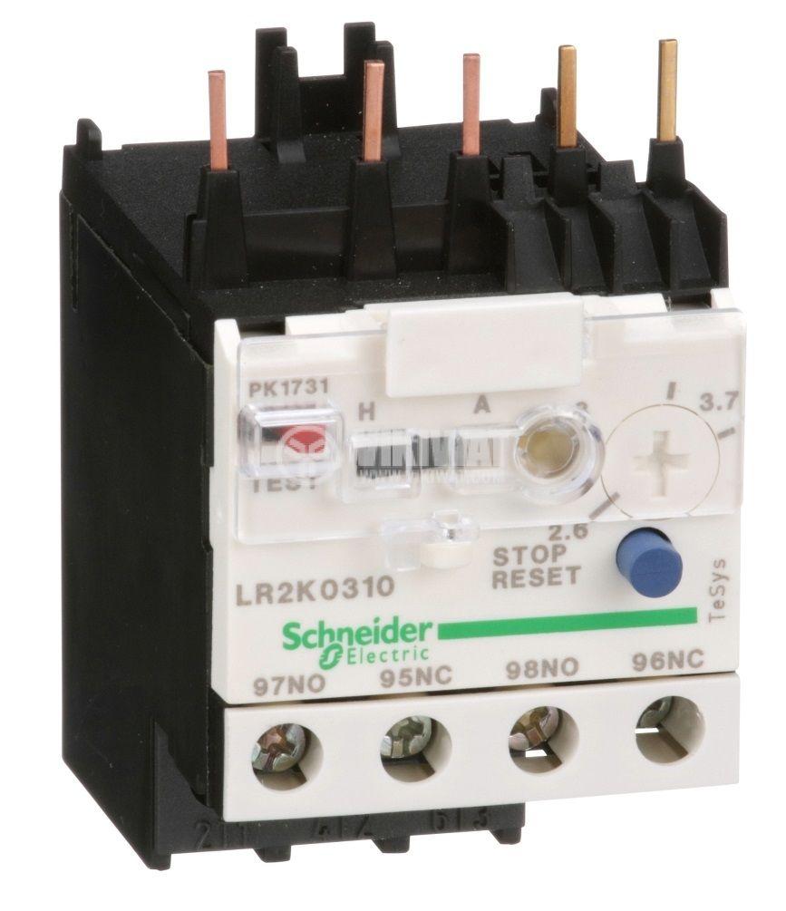 Термично реле LR2K0310 трифазно 2.6-3.7A NO+NC 6A/690V