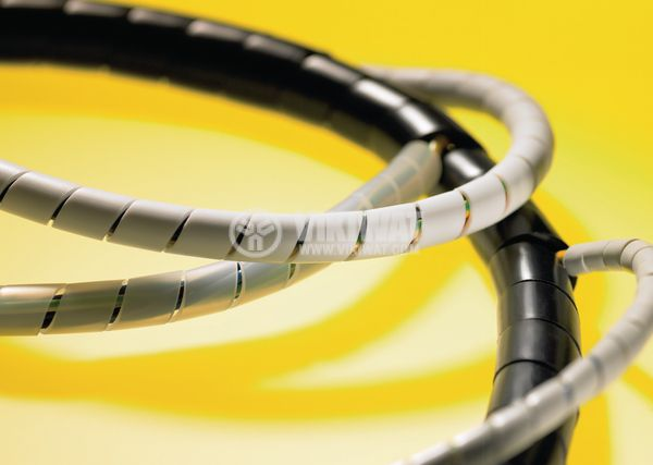 Оплетка за кабели 30m спирала бяла, 20-150mm SBPA16-PA6-NA HellermannTyton 161-42300 - 3