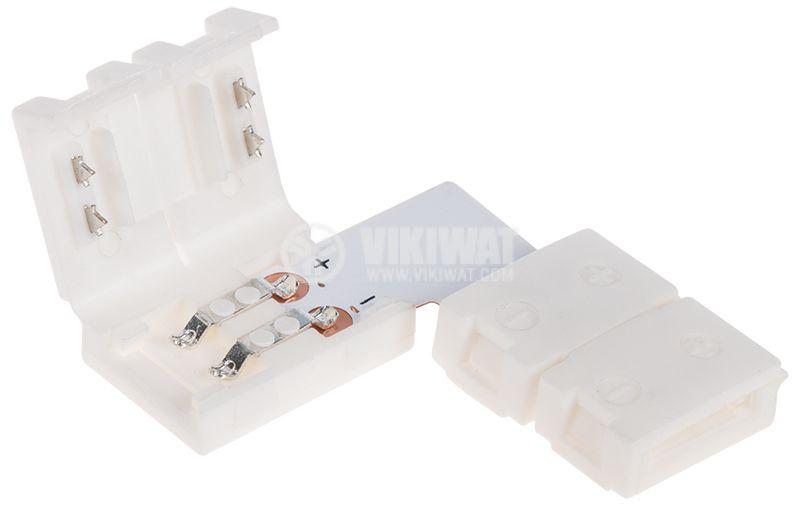 Свързващ конектор за LED лента SMD3528 90° - 2