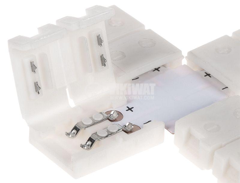 Свързващ конектор за LED лента SMD3528 кръстат - 2