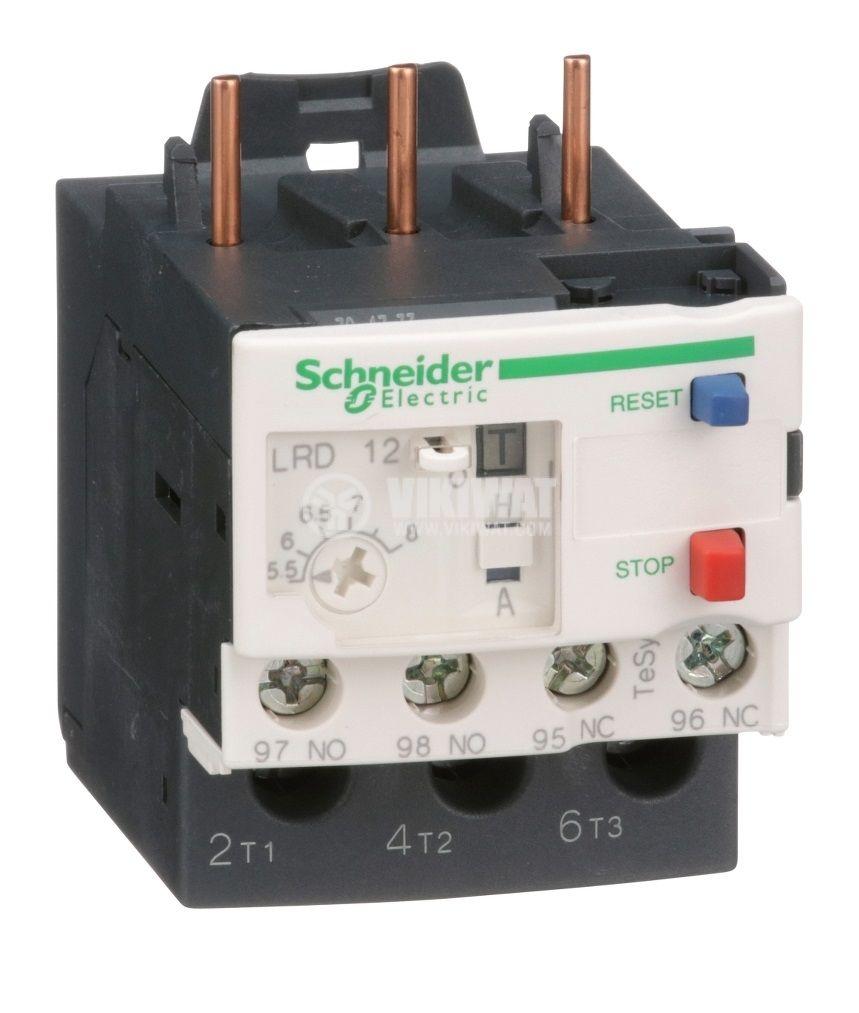 Термично реле LRD12 трифазно 5.5-8A 2xNO+2xNC 10A/690V
