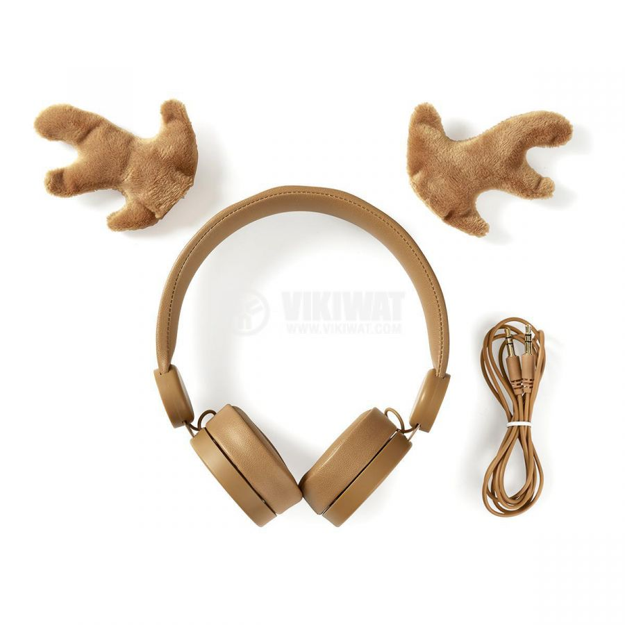 Слушалки HPWD4000BN с рога на елен жак 3.5mm 85dB 1.2m кафяви - 9