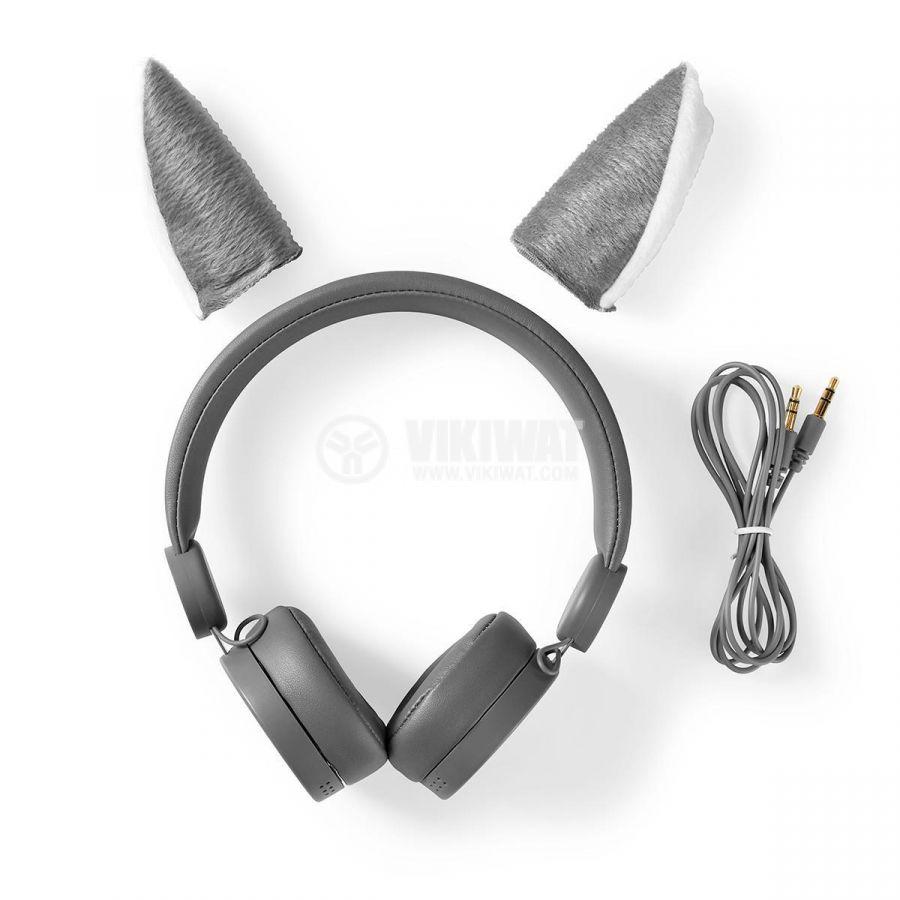 Слушалки HPWD4000GY с магнитни ушички на вълк жак 3.5mm 85dB 1.2m сиви - 9