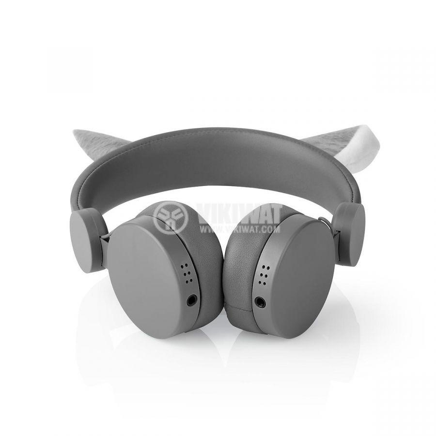 Слушалки жак 3.5mm 85dB 1.2m сиви - 5