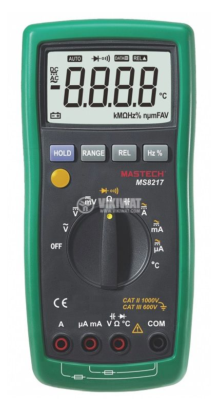 Мултицет MS8217, LCD(4000), Vdc, Vac, Adc, Aac, Ohm, F, Hz, °C