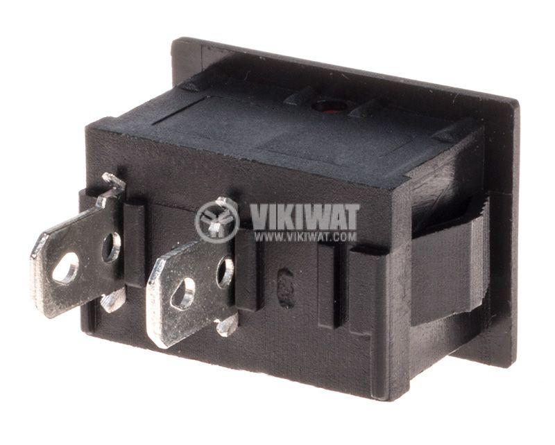 Rocker превключвател, 6A/250VAC, отвор 19x13mm - 3