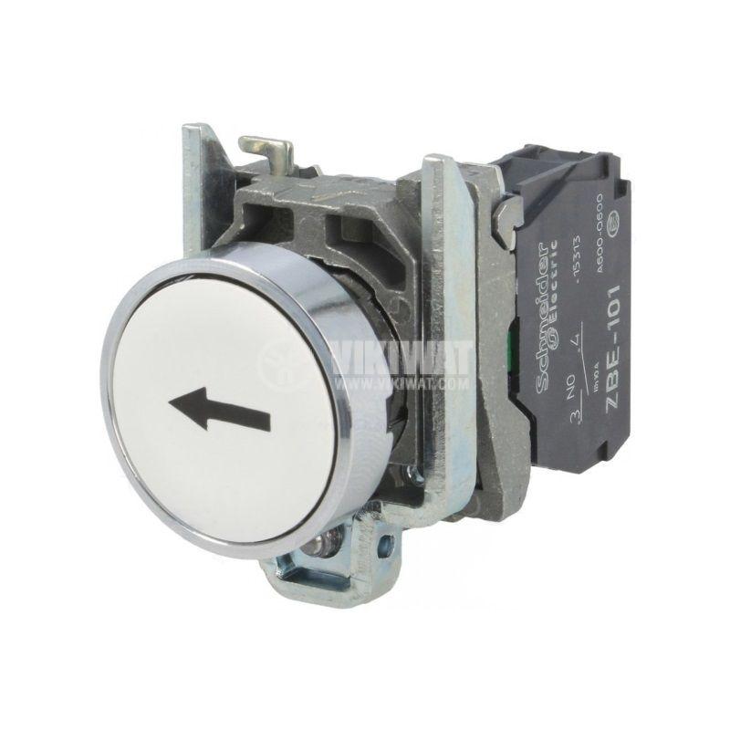 Панелен превключвател, бутон, OFF-(ON),  ф22mm, 10A/240V, Schneider