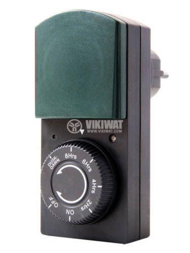 Таймер с фотоклетка 230V 16A 1000W 0-8h IP44 GAO 0823H
