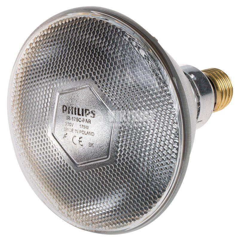 Инфрачервена кварцова лампа PAR38 E27 175W - 1