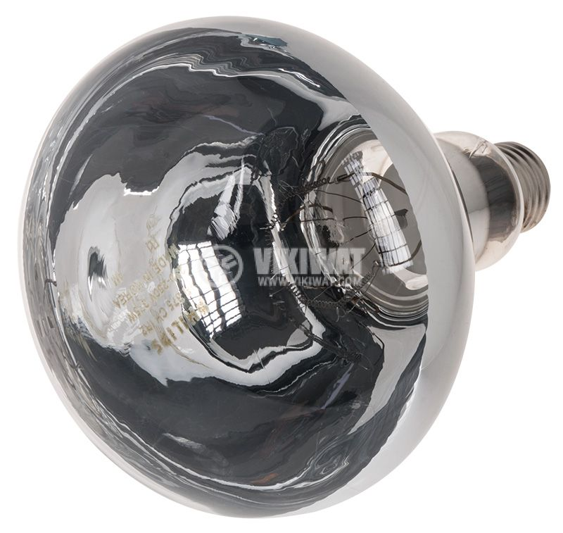 Инфрачервена кварцова лампа R125 E27 375W - 1