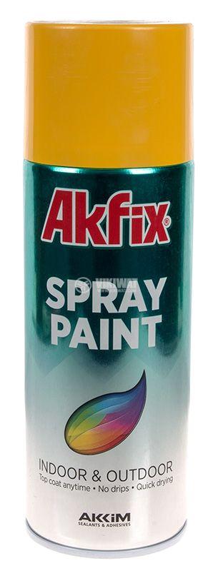Universal spray paint, yellow, gloss, 400ml - 1