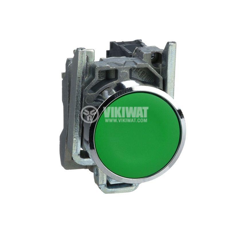 Панелен превключвател, бутон, OFF-(ON), ф22mm, 3A/240VAC, SPST, Schneider - 1