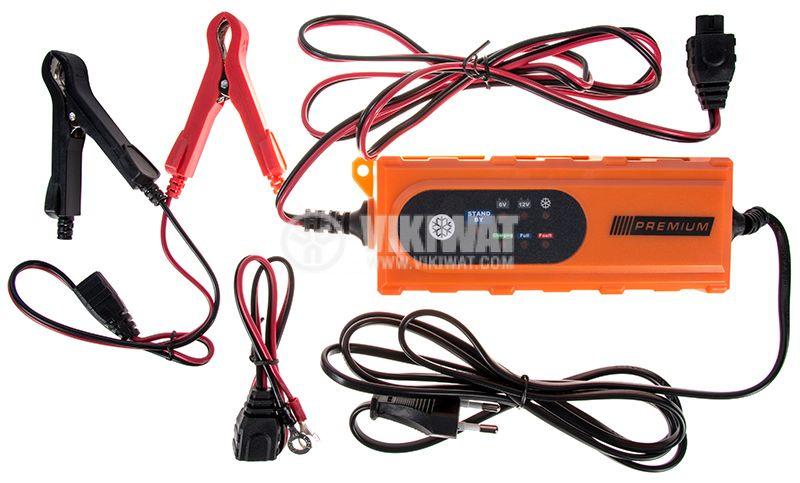 Зарядно устройство за акумулатори, 6/12VDC, 3.6A, SMART PREMIUMHD, 230VAC, 2 кабела с щипки - 1