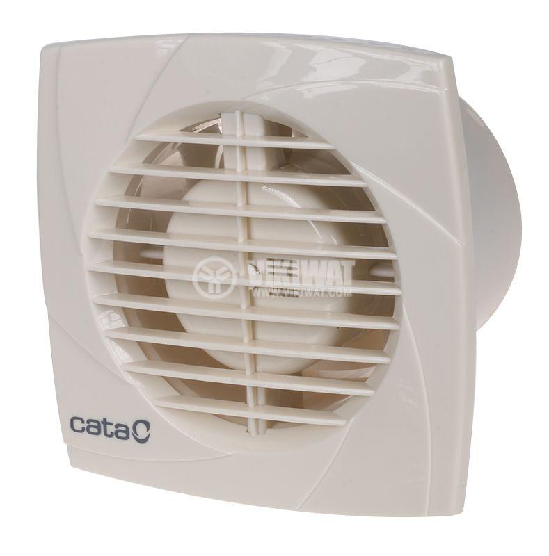 Вентилатор ф100mm 230V 15W 98m3/h бял Cata B10 PLUS - 1