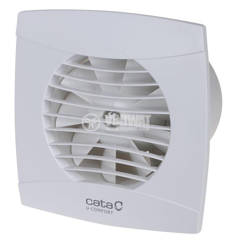 Вентилатор ф100mm с клапа 8W 110m3/h бял Cata UC-10 - 1