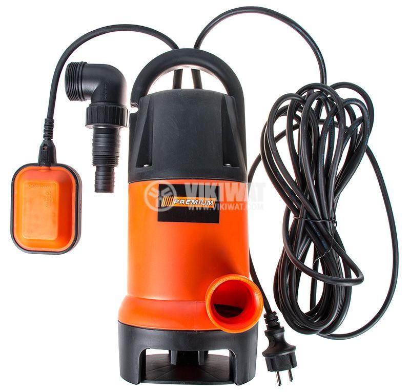 Потопяема помпа за мръсна вода 750W, 1250 l/h, 9m, Premium 0503WP750D - 1
