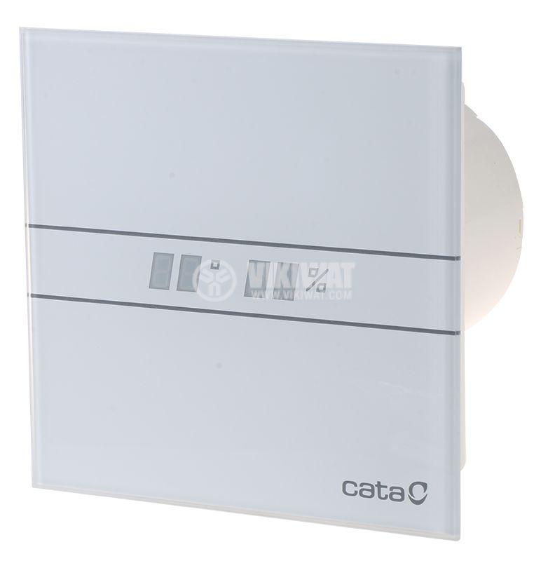 Вентилатор ф100mm с датчик за влага и таймер 230V 8W 115m3/h бял Cata E-100 GTH - 1