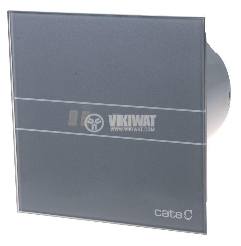 Вентилатор ф100mm с датчик за влага и таймер 230V 8W 115m3/h сив Cata E-100 GSTH - 1