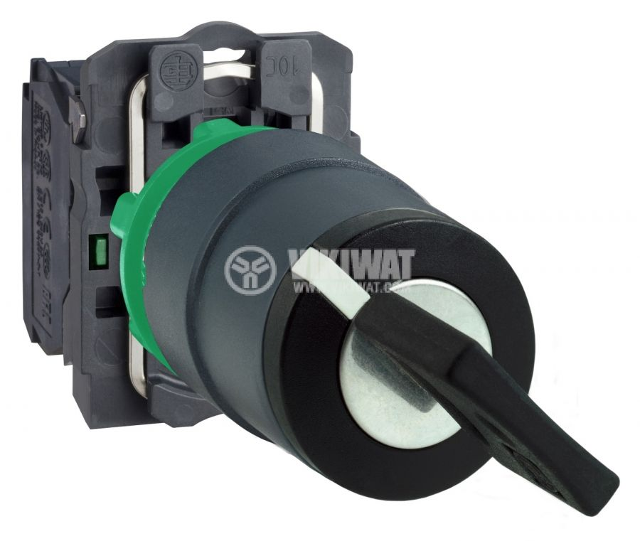 Панелен превключвател XB5AD53 ротационен с ключ ф22mm 3A/240V 3 позиции DPST