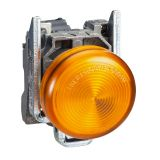 Индикаторна лампа XB4BVM5, LED, 230VAC, оранжевa, ф22mm