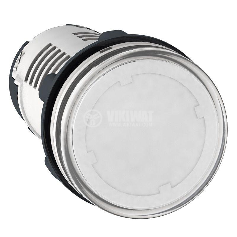 Индикаторна лампа, LED, XB7EV07MP, 230VAC, прозрачна (бяла), отвор ф22mm