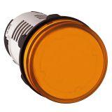Индикаторна лампа, LED, XB7EV08MP, 230VAC, оранжева, отвор ф22mm