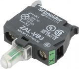 Индикаторна лампа, LED, ZALVB3, 24VAC/VDC, зелен, отвор ф22mm