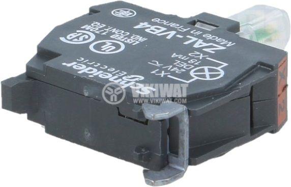 Индикаторна лампа LED 24VAC/VDC червен отвор ф22mm - 2