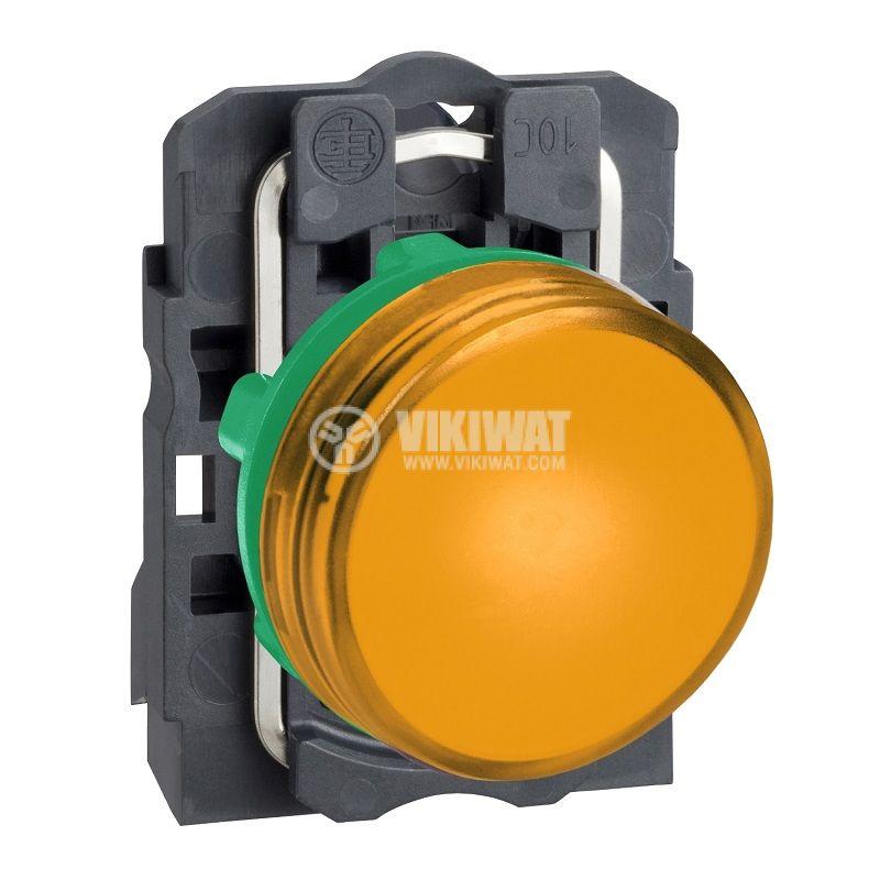 Индикаторна лампа LED, XB5AVB5, 24VAC/VDC, оранжева, ф22mm