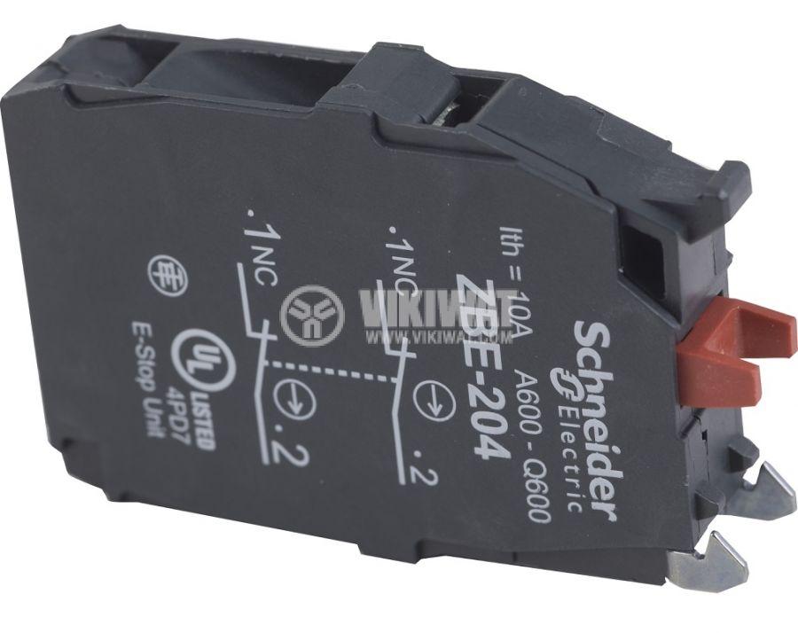Контактен блок ZBE20 3A/240V DPST-2xNC за превключватели XB5 ZB4 и ZB5