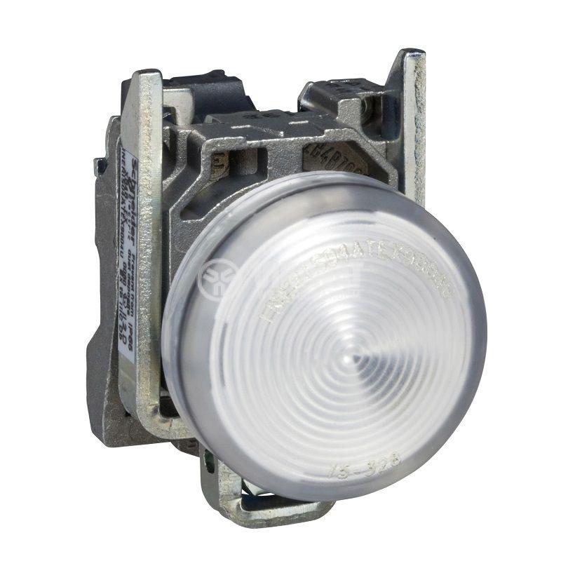 Индикаторна лампа, LED, XB4BVB1, 24VAC/VDC, бяла, отвор ф22mm - 1