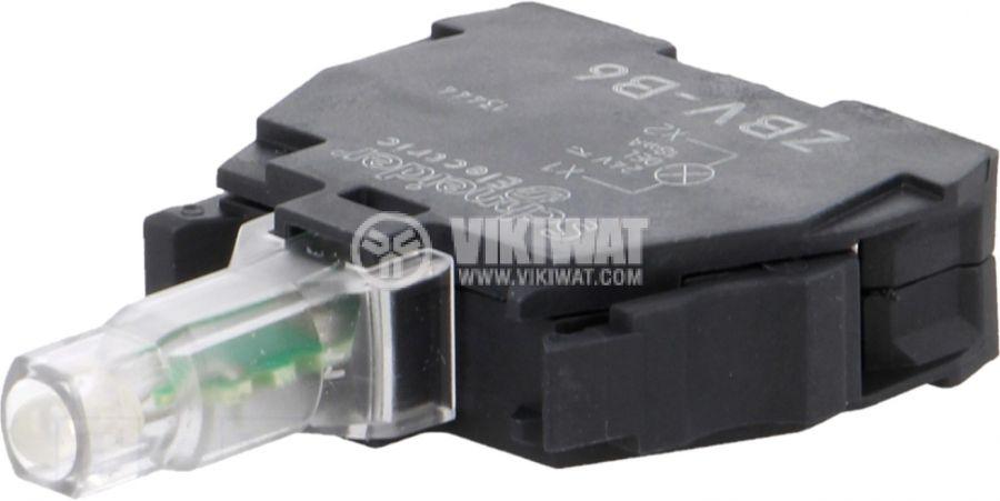 Индикаторна лампа LED ZBVB6 24VAC/VDC син отвор ф22mm - 1