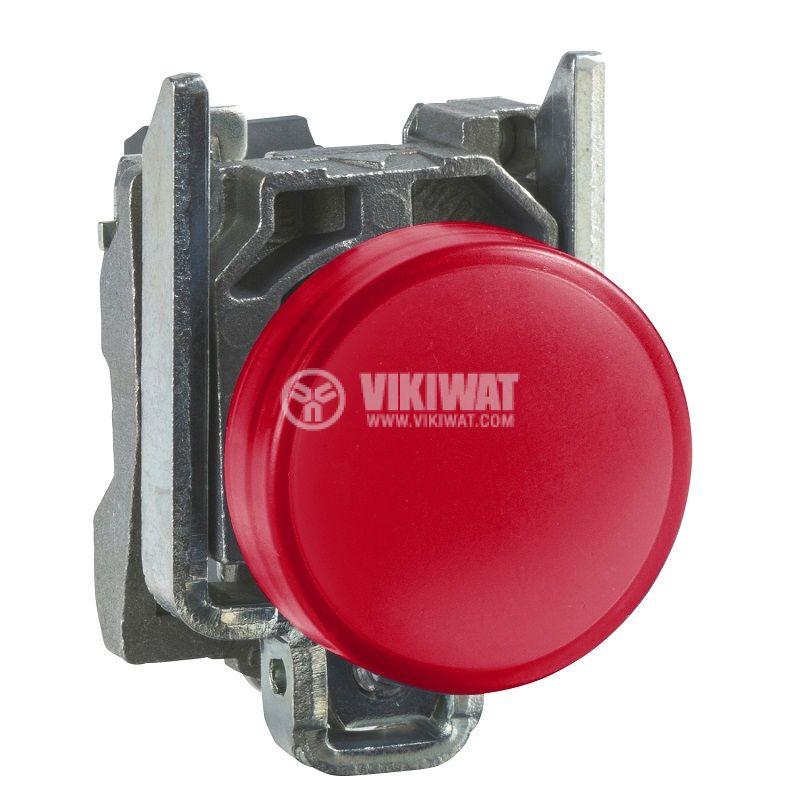Индикаторна лампа, LED, XB4BVB4, 24VAC/VDC, червена, отвор ф22mm - 1