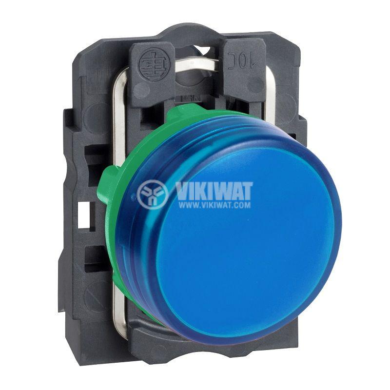 Индикаторна лампа LED, XB5AVB6, 24VAC/VDC, синя, ф22mm