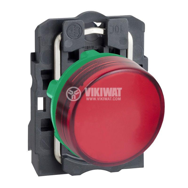 Индикаторна лампа LED, XB5AVM4, 230VAC, червена, ф22mm