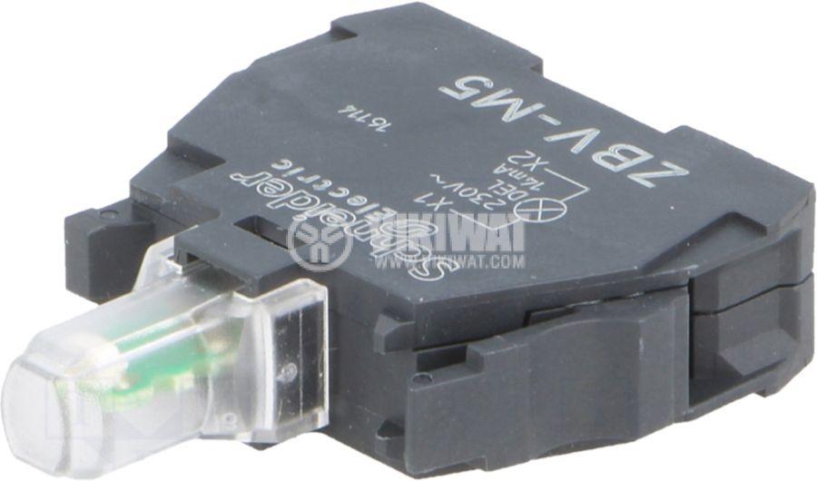 Индикаторна лампа LED ZBVM5 220V оранжев - 1