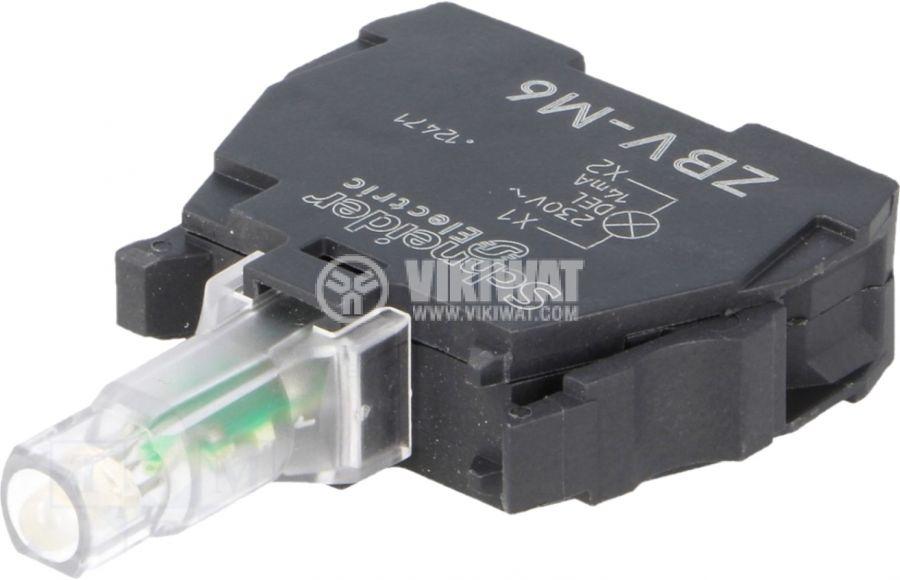 Индикаторна лампа LED ZBVM6 220V синя - 1