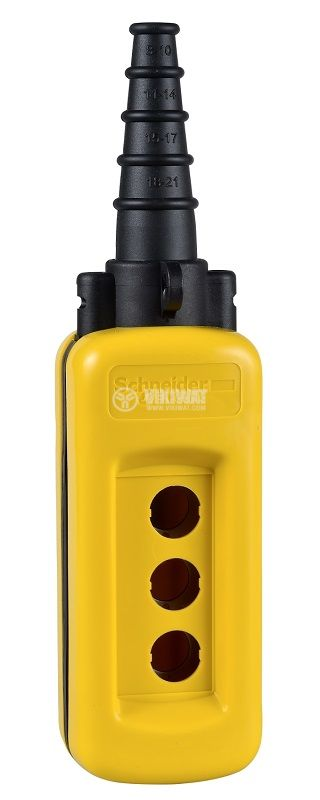 Кутия полипропилен, XACA03, за пулт за управление 80x190x70mm, черен/жълт