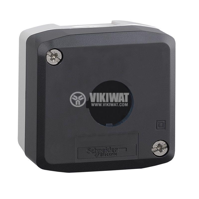 Кутия, XALD01, за пулт за управление 68x68x53mm, сива