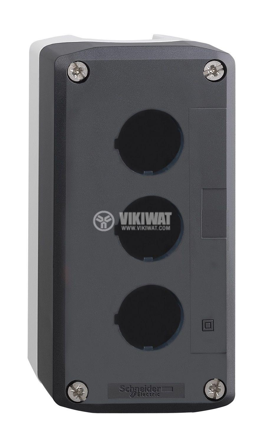 Кутия, XALD03, за пулт за управление 68x104x53mm, сива