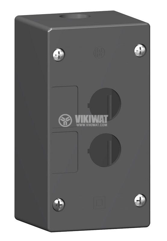 Кутия, XALG02, за пулт за управление 72x135x65mm, черна