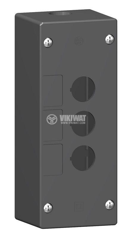 Кутия, XALG03, за пулт за управление 72x180x65mm, черна