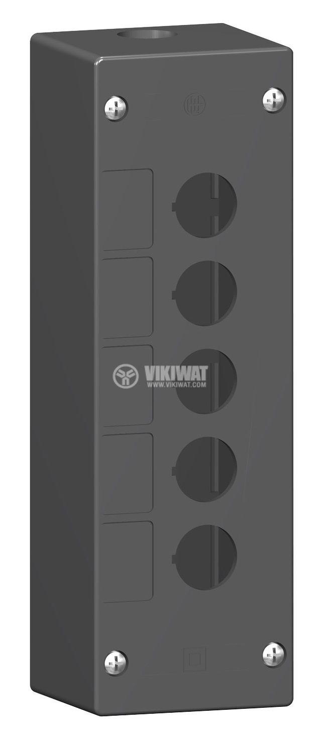 Кутия, XALG05, за пулт за управление 72x209x65mm, черна