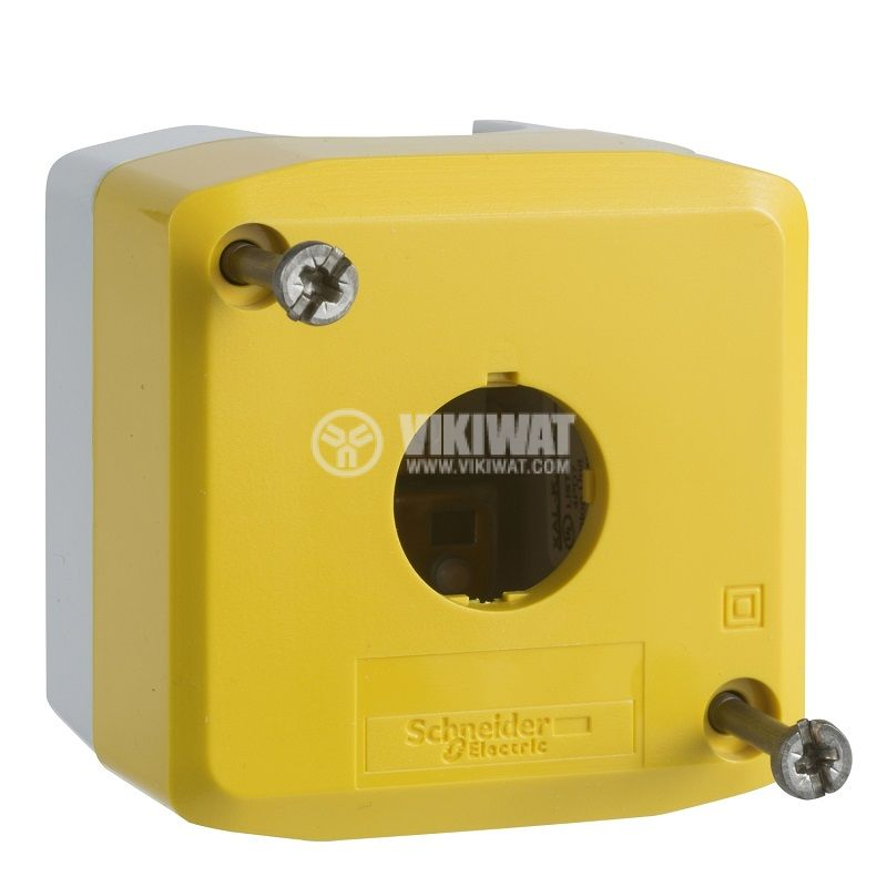 Кутия пластмаса, 68x68x53mm, сив/жълт, за дистанционно управление, XALK01