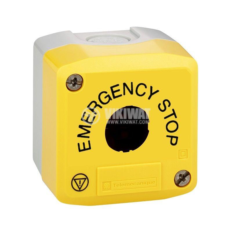 Кутия, XALK01H29, за пулт за управление 68x68x53mm, сива/жълта