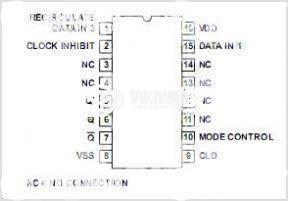 Интегрална схема 4031, CMOS, 64-stage static shift register, DIP16 - 2