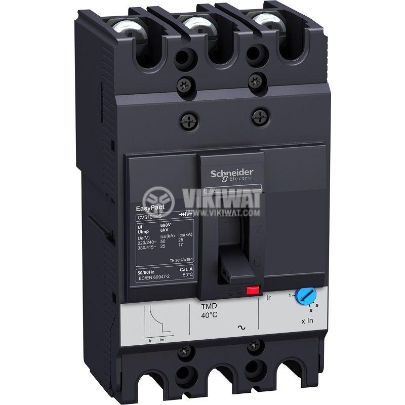 Automatic circuit breaker LV510937 3P 80А 415V