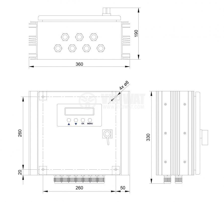 Solar chгarge regulator, Power Tarom 2140, 140A, 12V / 24V - 2