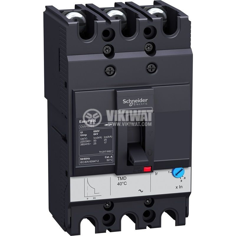 Automatic circuit breaker LV510938 3P 100А 415V
