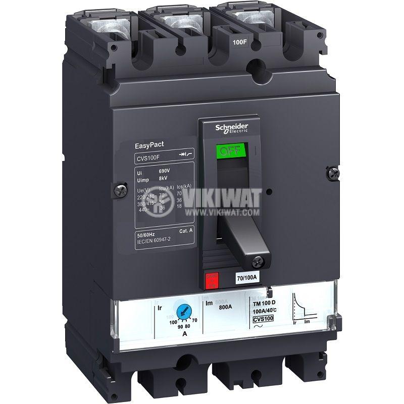 Автоматичен прекъсвач LV510307 3P3D 100А 415VAC
